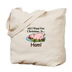 Christmas Ham Tote Bag