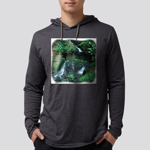 5 falls 10 curved Mens Hooded Shirt