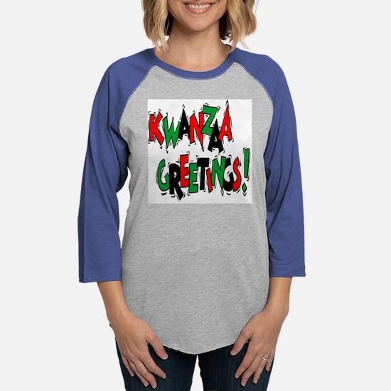 kwanzaa greetings.png Womens Baseball Tee