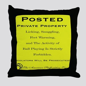 privateamstaff Throw Pillow