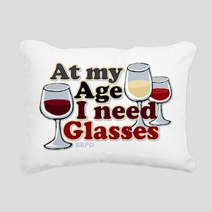 I Need Glasses Rectangular Canvas Pillow