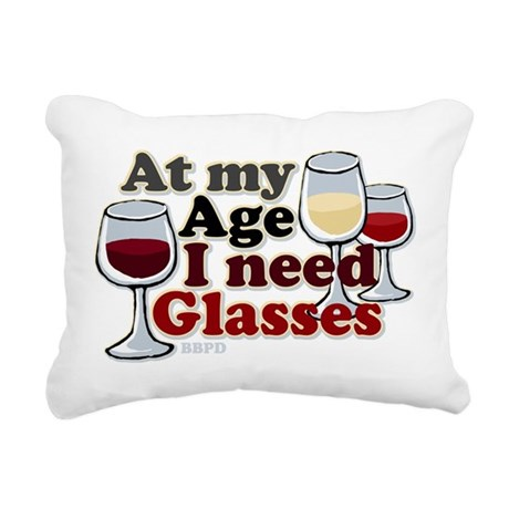 I Need Glasses Rectangular Canvas Pillow