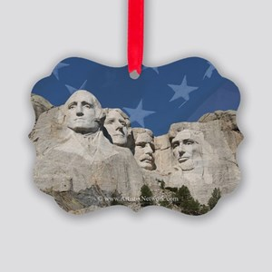 Patriotic Mt Rushmore Picture Ornament