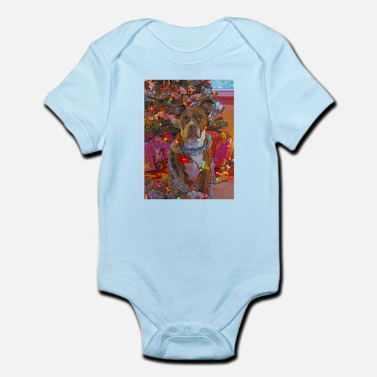 pitbull christmas card.jpg Infant Bodysuit