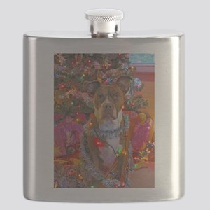 pitbull christmas card Flask