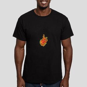 Liar, Liar, Pants on Fire Men's Fitted T-Shirt (da