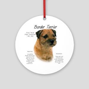 Border Terrier Round Ornament
