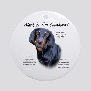 Black and Tan Coonhound Round Ornament