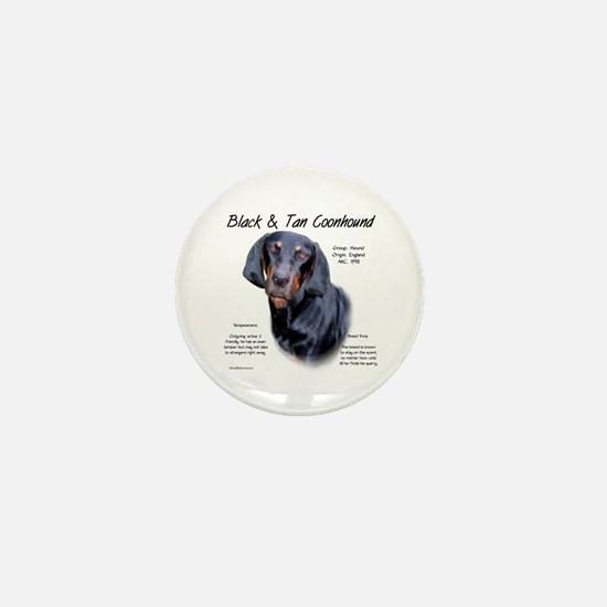 Black and Tan Coonhound Mini Button