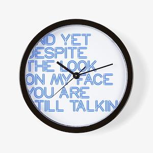Still Talking st Wall Clock