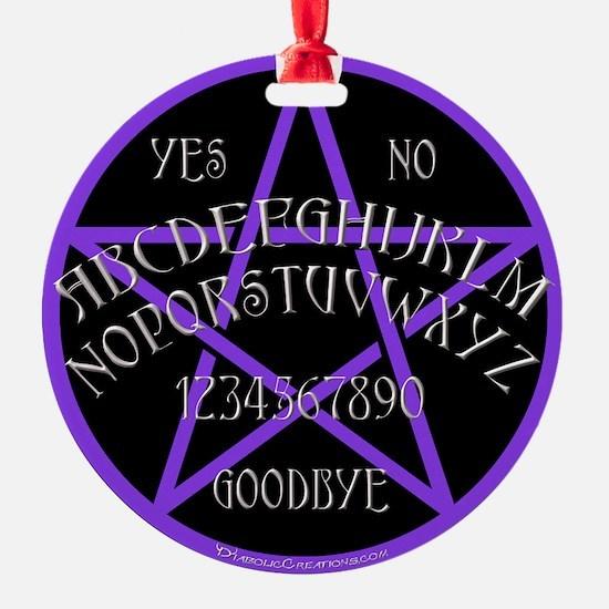 PurplePentagramDwhite.png Ornament