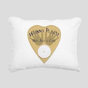 Planchette-Wanna Play? Rectangular Canvas Pillow