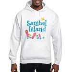 Sanibel Island - White Hooded Sweatshirt