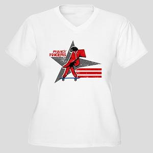 PFX002 Women's Plus Size V-Neck T-Shirt