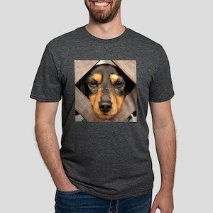 doxie black tan Mens Tri-blend T-Shirt