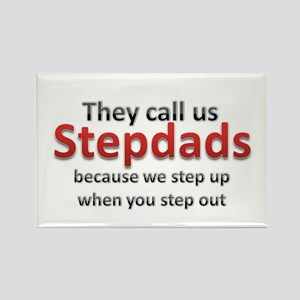 Step Up Dads Rectangle Magnet