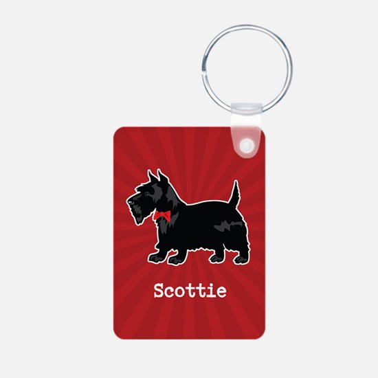 Personalizable Scottish Terrier Aluminum Keychain