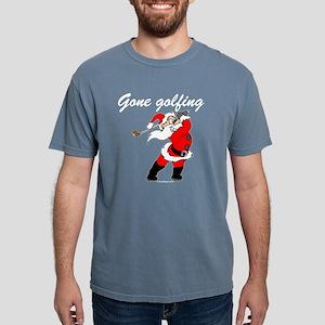 Santa's Gone Golfing Mens Comfort Colors Shirt