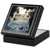 Pennies from heaven box Square Keepsake Boxes