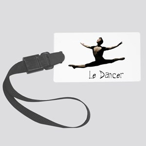 Male Dancer Large Luggage Tag