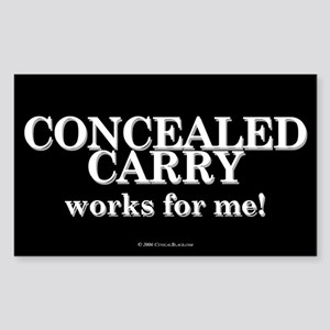 Concealed Carry Rectangle Sticker