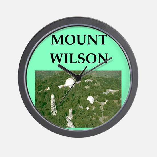 mount wilson Wall Clock
