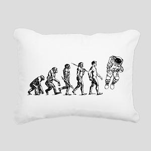 Astronaut Evolution Rectangular Canvas Pillow