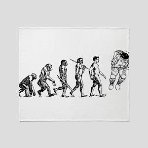 Astronaut Evolution Throw Blanket