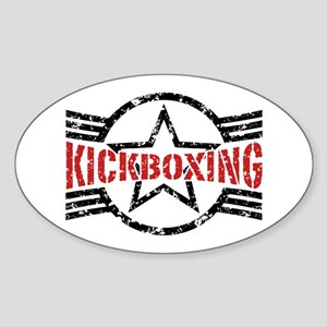 Kickboxing Sticker (Oval)