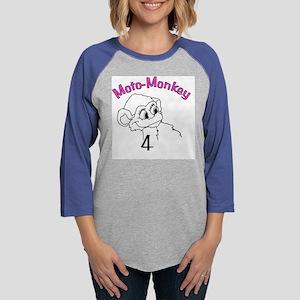 motomonkeyfinal copy2 copy Womens Baseball Tee