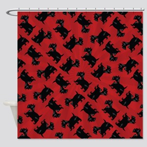 Scottish Terrier Patterned Shower Curtain