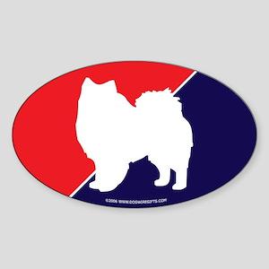 RWB American Eskimo Oval Sticker