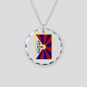 Tibet2 Necklace Circle Charm