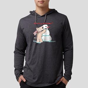 Wheaten Snowman Mens Hooded Shirt