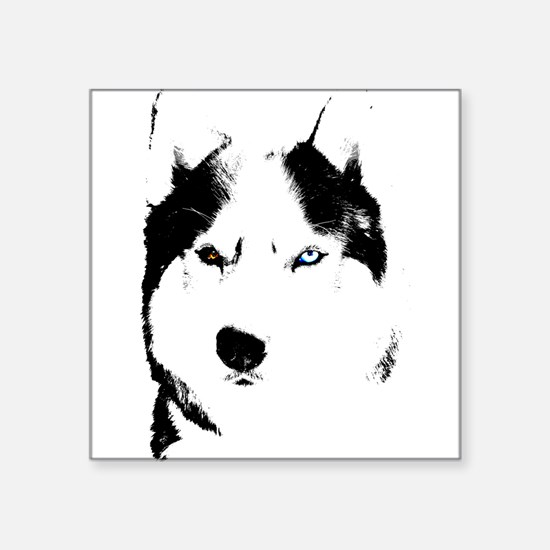 Husky Gifts Bi-Eye Husky Shirts & Gifts Square Sti