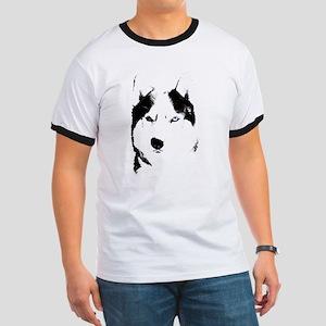 Husky Gifts Bi-Eye Husky Shirts & Gifts Ringer T