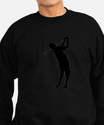 Golfer Silhouette Jumper Sweater