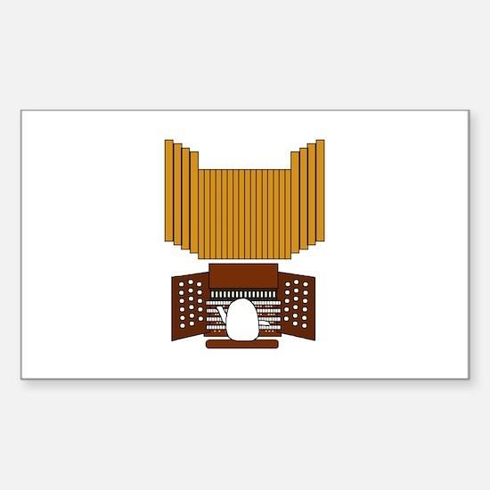 Organist Sticker (Rectangle)