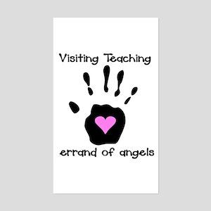 Visiting Teaching Rectangle Sticker