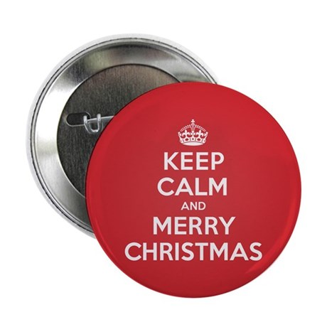 "Keep Calm Merry Christmas 2.25"" Button (10 pack)"