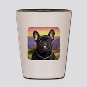 French Bulldog Meadow Shot Glass