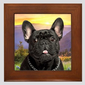 French Bulldog Meadow Framed Tile