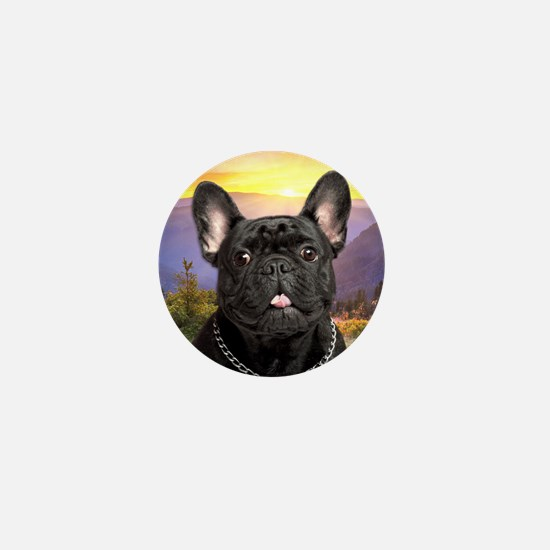 French Bulldog Meadow Mini Button