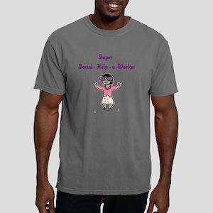 2-Super Social Worker.pn Mens Comfort Colors Shirt