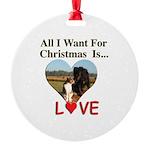 Christmas Love Round Ornament