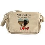 Christmas Love Messenger Bag