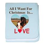 Christmas Love baby blanket