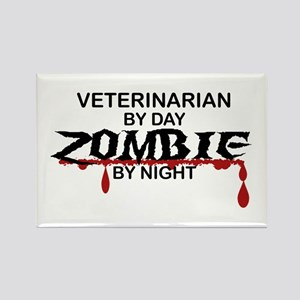 Veterinarian Zombie Rectangle Magnet