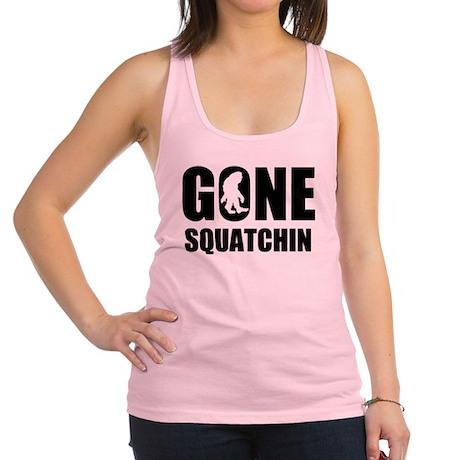 Gone sqautchin Racerback Tank Top
