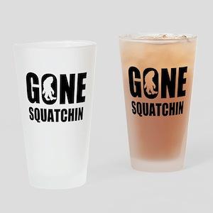 Gone sqautchin Drinking Glass